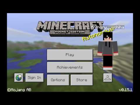 Minecraft pe how to get your own skin or make your own skin