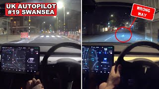 Autopilot BLOCKED in Empty City Centre?!- Tesla Autopilot in a UK City #19 Swansea