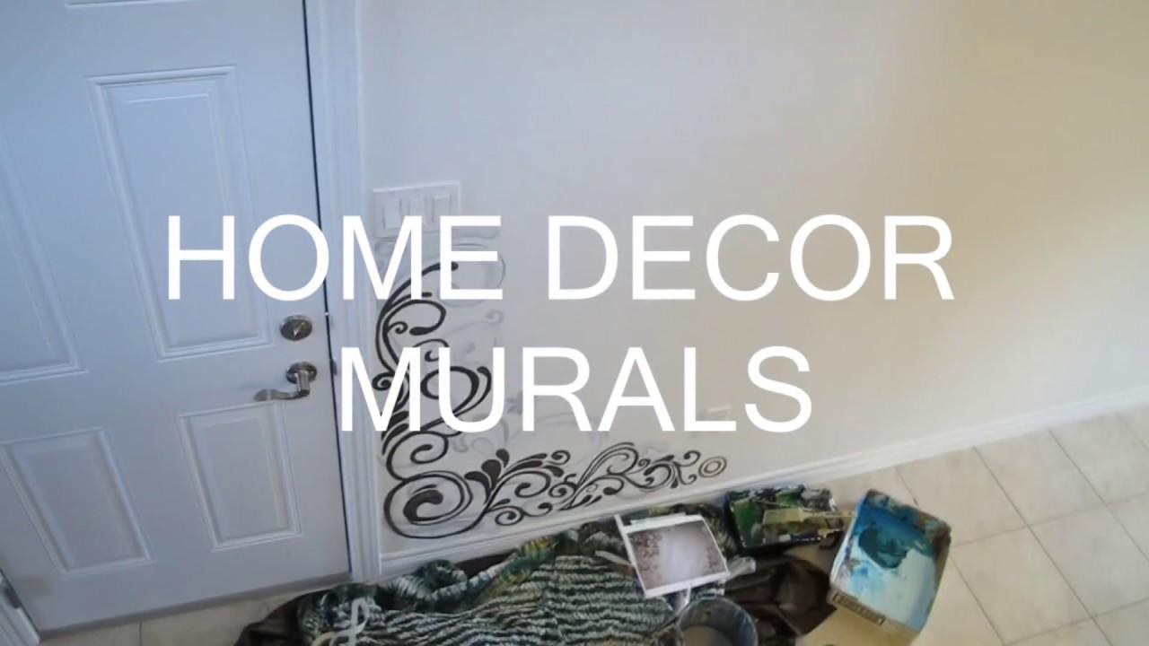 WALL ART MURAL Custom Hand Painted Home Decor Art