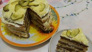 """Печеночный торт  """"День - Ночь"""". Рецептик прост, а тортик вкусный."""