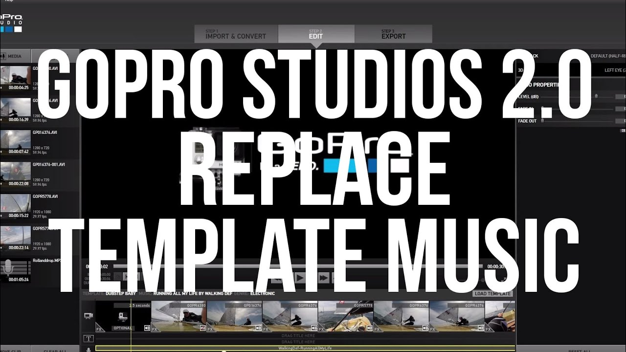 Replace Music Included in Template: GoPro Studios 2.0 - YouTube