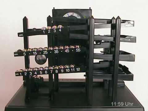 Time Machine Clock  Rolling Ball Kugeluhr  YouTube