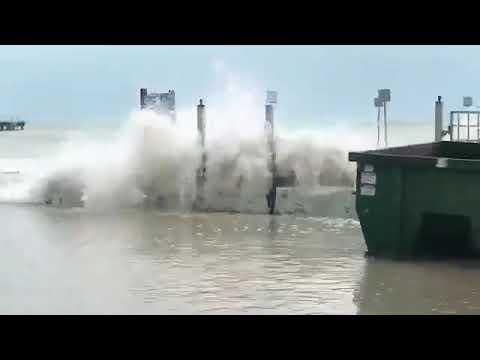 Hurricane Irma Surge Flooding in Key West, Florida  Sept 9, 2017