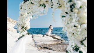 Свадьба на Кипре на площадке Белые камни Алены и Глеба