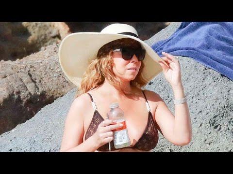 Mariah Carey Flaunts Her Figure in a Tiny Bikini in St. Barts!