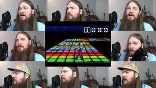 Repeat youtube video Super Mario Kart - Rainbow Road Acapella