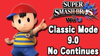 Super Smash Bros. For Wii U (Classic Mode 9.0 No Continues | Ness) 60fps