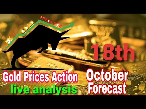 XAUUSD price action analysis 18th October   Forex Gold live trading strategy   Fx gold prediction
