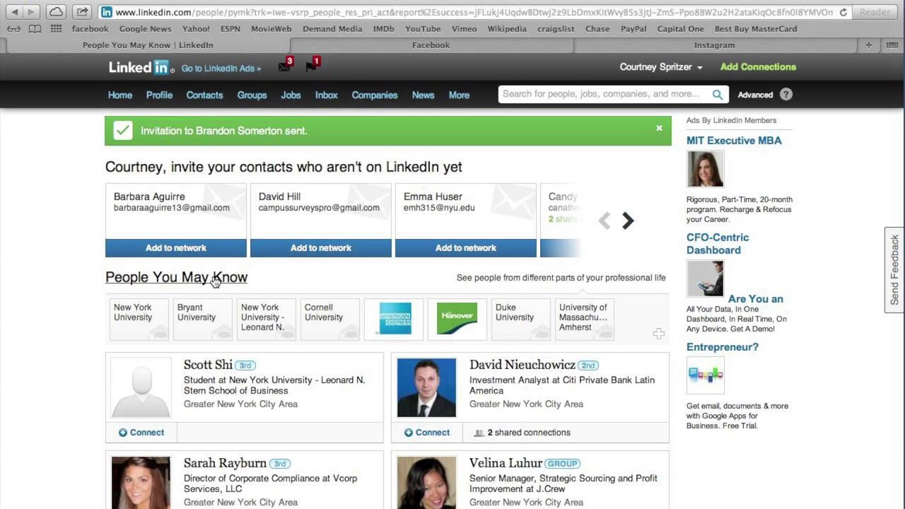 How to Send an Invitation on LinkedIn recommend