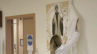 VASTO - donazione di un quadro del Beato Angelo alla cappella dell'ospedale San Pio