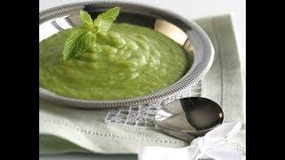 Юлия Высоцкая — Картофельный суп с луком пореем и зеленым горошком