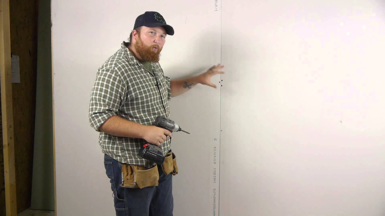 How To Install Drywall To A Wall With Screws Wall Repair