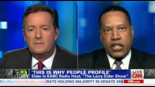"Radio Show Host Larry Elder explodes at Piers Morgan - ""You ought to be ashamed of yourself!"""