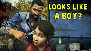 Lee Cut Little Clem's Hair -All Dialogues- The Walking Dead
