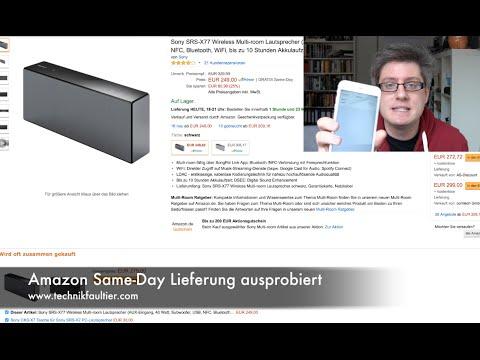 Amazon Same-Day Lieferung ausprobiert