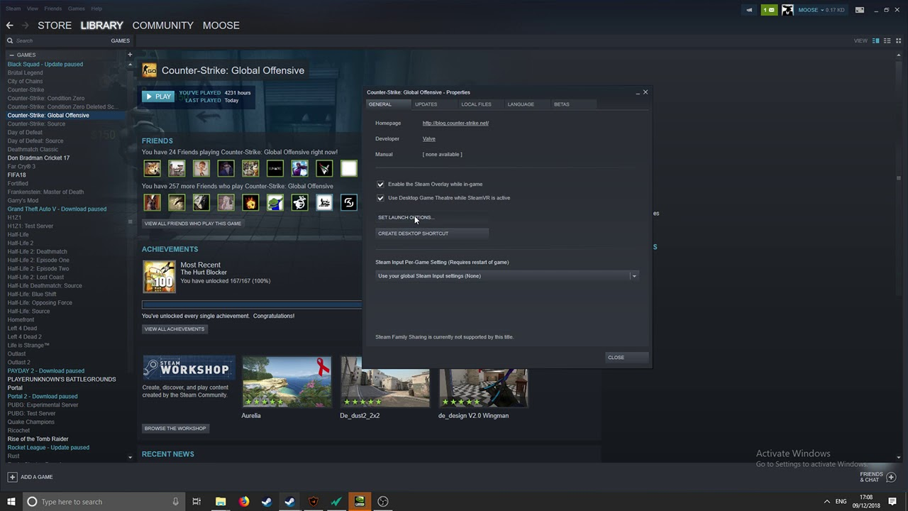 Launch options for FPS boost CSGO