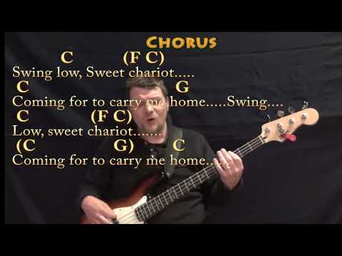 Swing Low, Sweet Chariot (Spiritual) Bass Guitar Cover Lesson in C with Chords/Lyrics