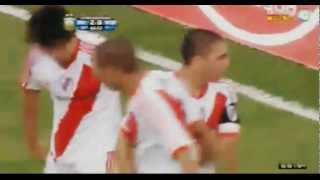 2do gol de Trezeguet + Festejos - River 2 vs Almirante Brown 0 - B Nacional 11/12
