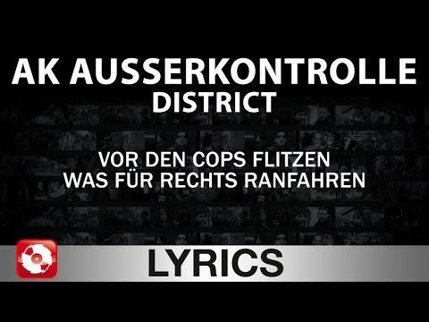 AK AUSSERKONTROLLE - DISTRICT AGGROTV LYRICS KARAOKE (OFFICI