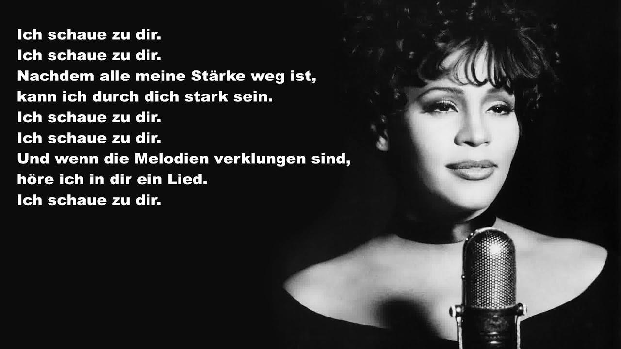 Whitney Houston I Look To You Deutsche übersetzung Youtube