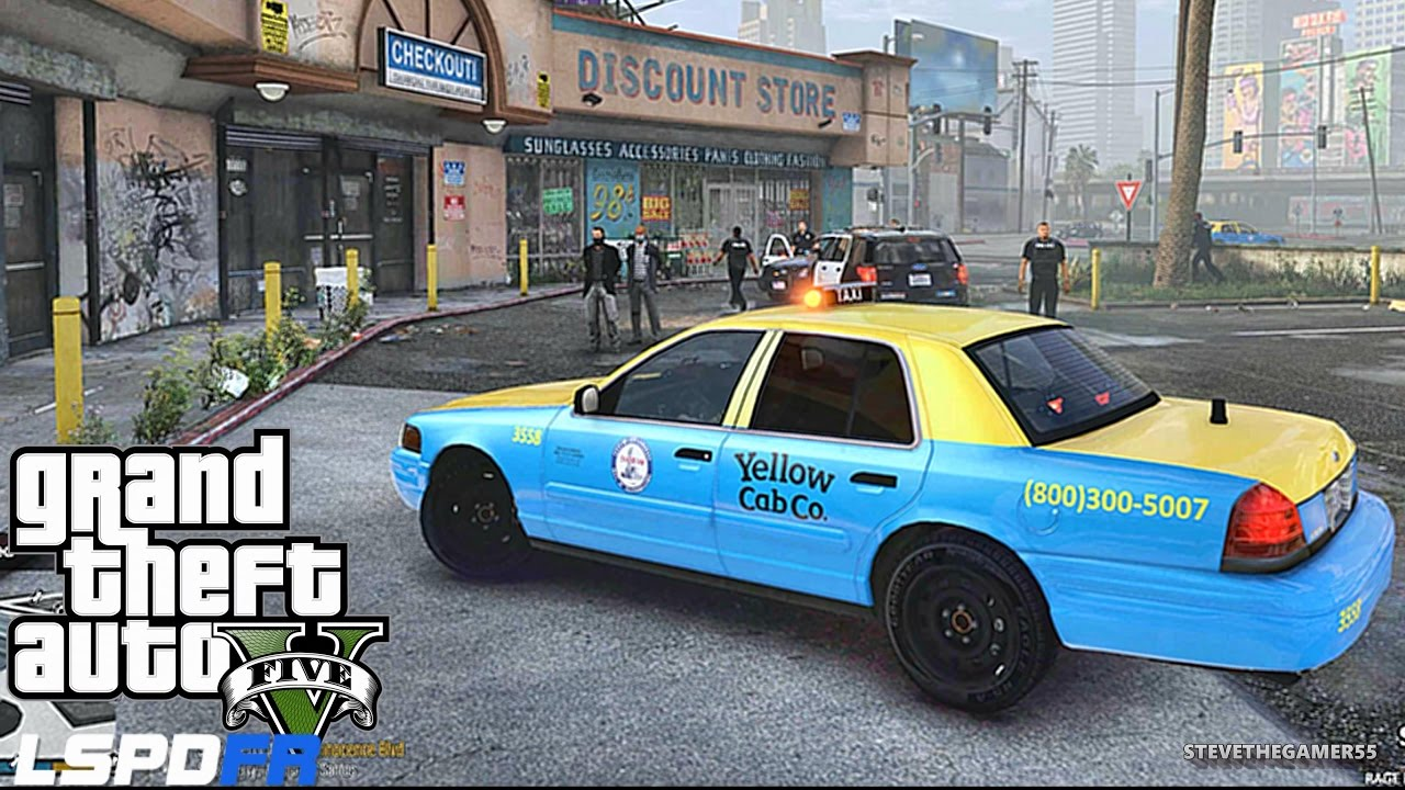 GTA 5 LSPDFR 0.3.1 – EPiSODE 327 – LET'S BE COPS – TAXI PATROL (GTA 5 PC POLICE MODS)