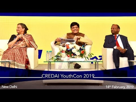 Speaking at CREDAI YouthCon 2019, in New Delhi