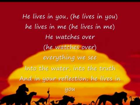 The Lion King II - He lives in you by Tina Turner (Sing-Along)