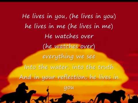 Lion king theme lyrics