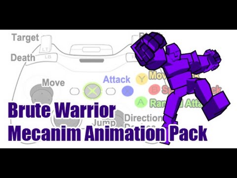 Unity3d Brute Warrior Mecanim Animation Pack