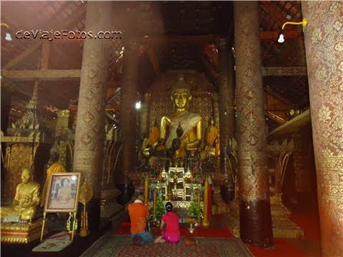 Wat XiengThong, Sim el santuario principal, Luang Prabang en Laos. Arbol de la vida.