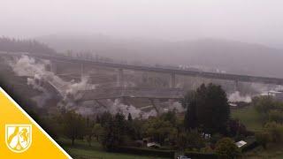 Talbrücke bei Siegen gesprengt