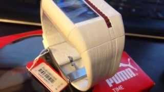 Puma White Watch Cardiac II Heart Rate Monitor