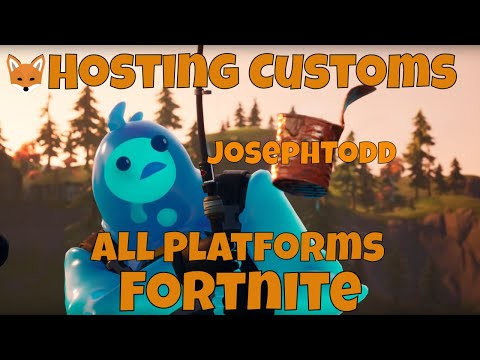 🔴 Fortnite Stream Hosting Customs With Viewers! NA East Customs PS4, XBOX, PC, IOS, Switch