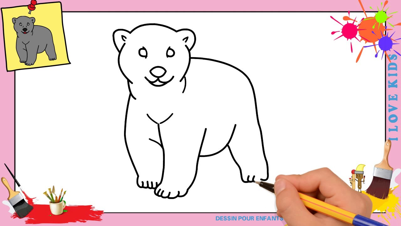 Dessin ours facile comment dessiner un ours facilement - Facile dessin ...