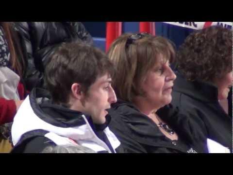 TEB 2012 Brian Joubert at tribune 1
