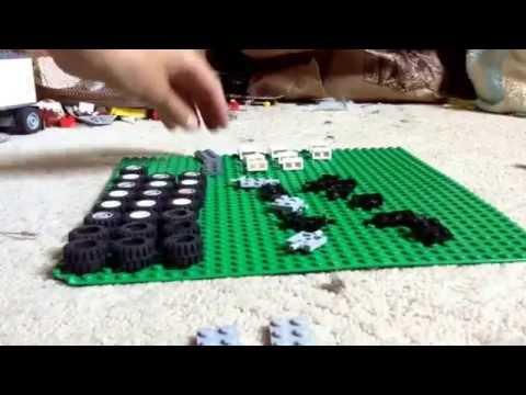 How to make a Lego race car and tire rack: via YouTube Capture