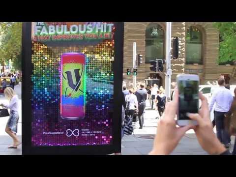V Energy Drink DOOH photo booth | JCDecaux Australia
