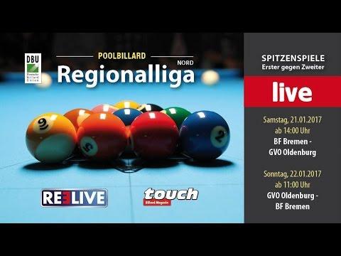 Regionalliga Top Match Billardfreunde Bremen e.V. vs GVO Oldenburg powered by REELIVE