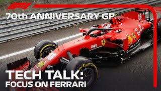 What's Going on at Ferrari? | Tech Talk | 70th Anniversary Grand Prix