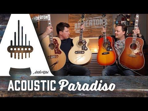 Acoustic Paradiso - Gibson vs Epiphone - Hummingbird & J200