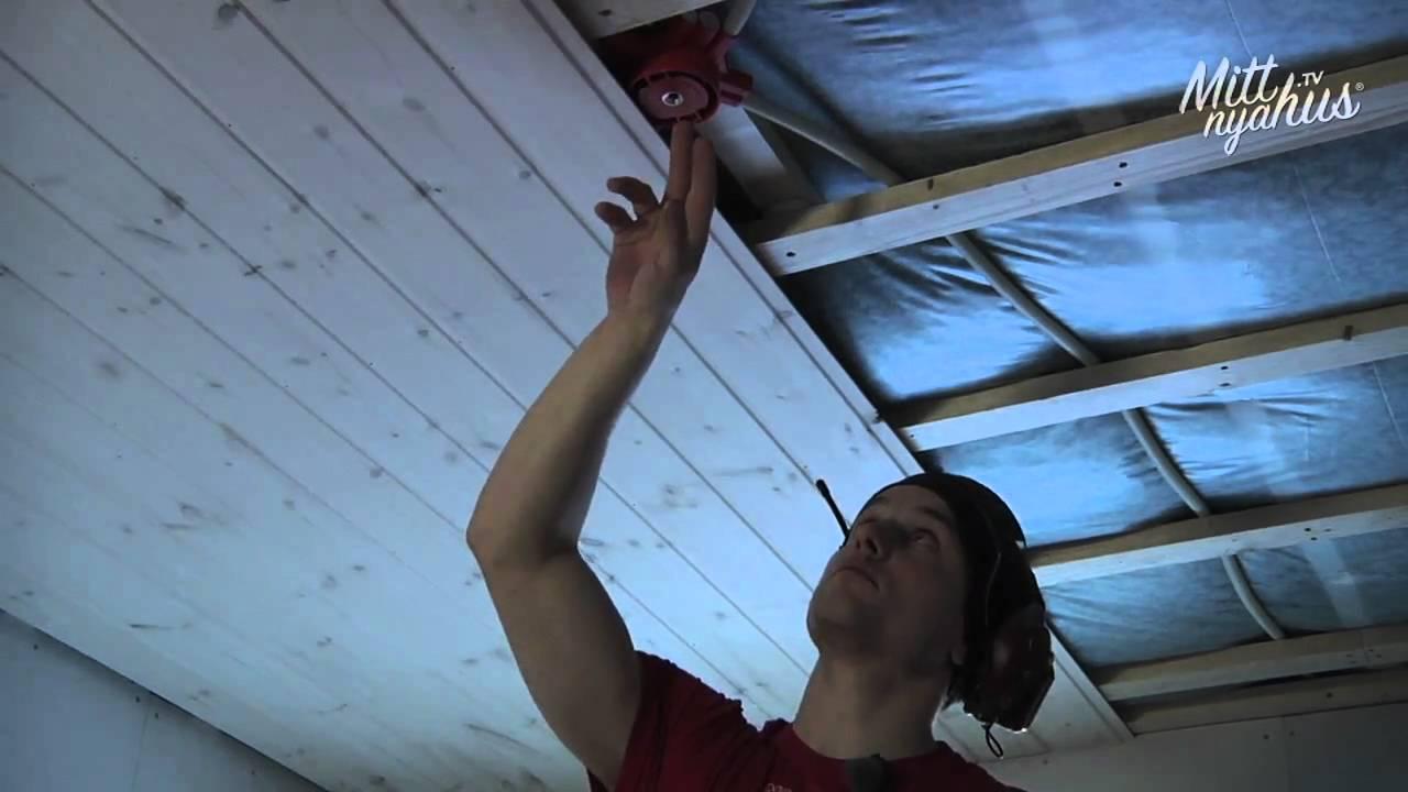 hur sätter man gips i tak