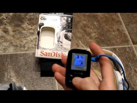 Review Sansa Clip Sport 8GB sandisk Mp3 player portable small