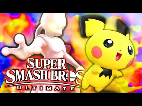 Smash Bros Ultimate - MEWTWO VS PICHU! thumbnail