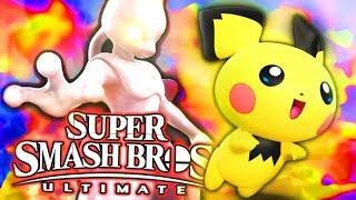 Smash Bros Ultimate - MEWTWO VS PICHU!