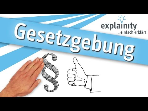Gesetzgebung einfach erklärt (explainity® Erklärvideo)