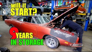 1969 Dodge Charger First Start in 9 Years!