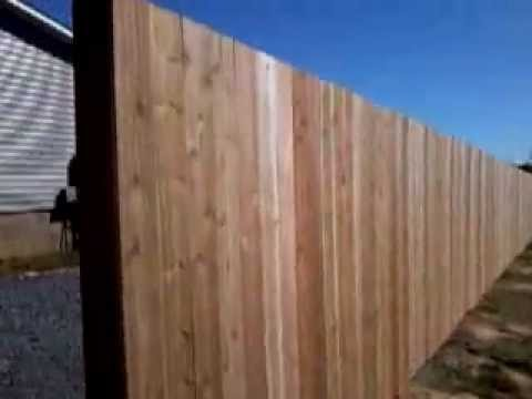 How Install Your Own Wood Privacy Fence Youtube