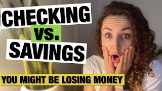 IMPORTANT DIFFERENCE BETWEEN CHECKING AND SAVINGS ACCOUNTS | Plus Free Fixes for Expensive Mistakes