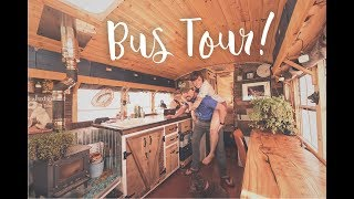 Download Bus Conversion Tiny House Tour | Off Grid Solar School Bus Home Mp3 and Videos