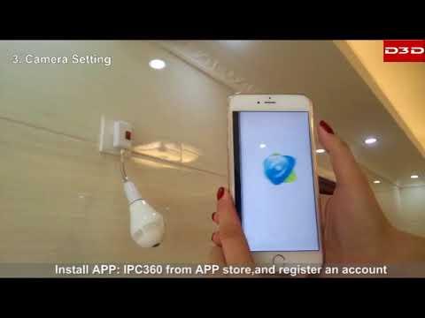 D3D LED Bulb 360 Fisheye IP Camera - D3D Security